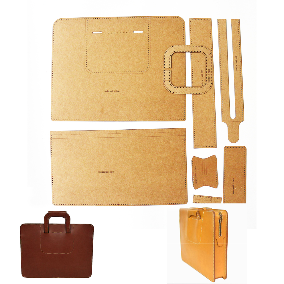 Suitcase Kraft Paper Template DIY Leather Sewing Pattern Template For Work Finished Size36x28x6cm