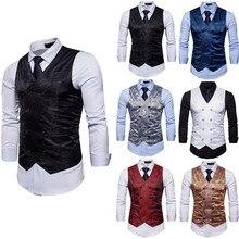 New Fashion Men's Jacket Suit Slim Fit Vest Casual Business Formal Vest Waistcoat