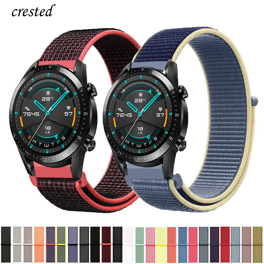 20/22mm Huawei Watch GT 2 Strap For Samsung Gear S3 Frontier 42/46 Mm GT2 3 Nylon Bracelet Galaxy Watch 46mm/42mm/active 2 Band