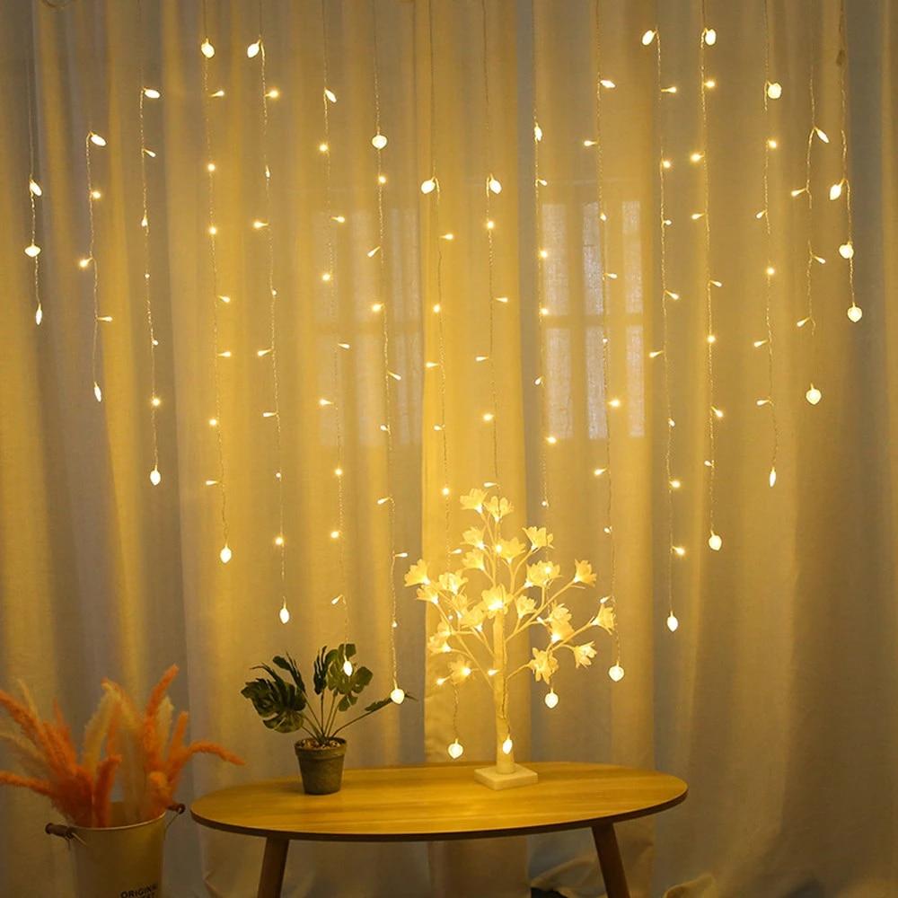 112 Led Decorative Light String Love Love Pearl Light Love Curtain Light Female Bedroom Decoration Lamp Light String Quality 12 Lighting Strings Aliexpress