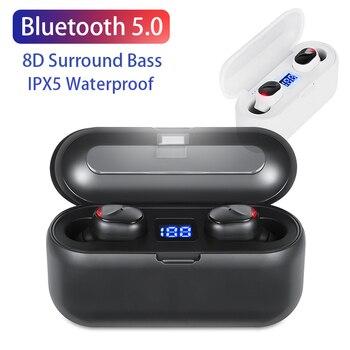 TWS Blutooth 5.0 Earphone Mini Wireless Earbud Stereo Headphone Sports Headset audifonos para celular Elari LED Display 8D Bass 1