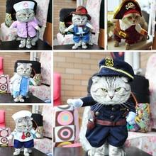 Świąteczne ubrania dla kota ubrania na halloween dla kotów kostium nowy rok strój kot domowy ubranka dla chihuahua zimowe ciepłe ubrania dla zwierząt