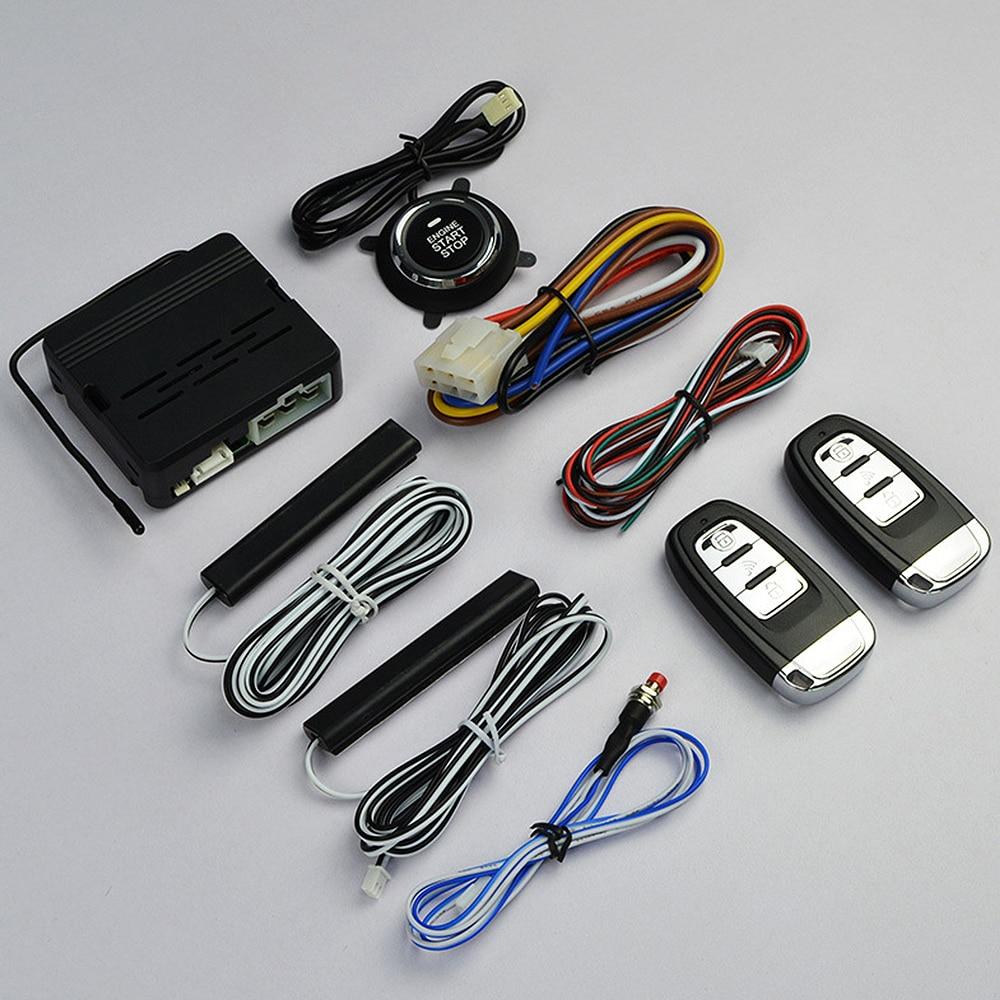 Alarm-System Start-Stop-Button Engine-Start Entry-Remote Universal Car Keyless