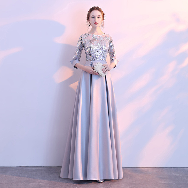 DongCMY Long Formal Sequined Prom Dresses Party New Plus Size Robe De Soiree Embroidered Gowns 6