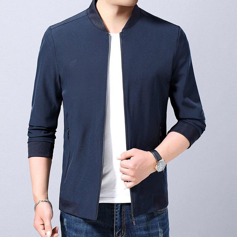 2019 automne nouveau Style veste hommes imprimé hommes vêtements d'âge moyen papa vêtements manteau fabricants approvisionnement Direct 95