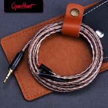 OPENHEART גבוהה באיכות 8 ליבה מקורי MMCX כבל עבור אוזניות שדרוג החלפת כבלי 3.5mm חזק ועמיד