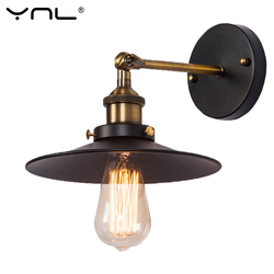 Retro Industrial Wall Lamp Loft Vintage Black Iron Wall Sconce Stair Light Fixture For Home Corridor Outdoor Lighting 110V 220V