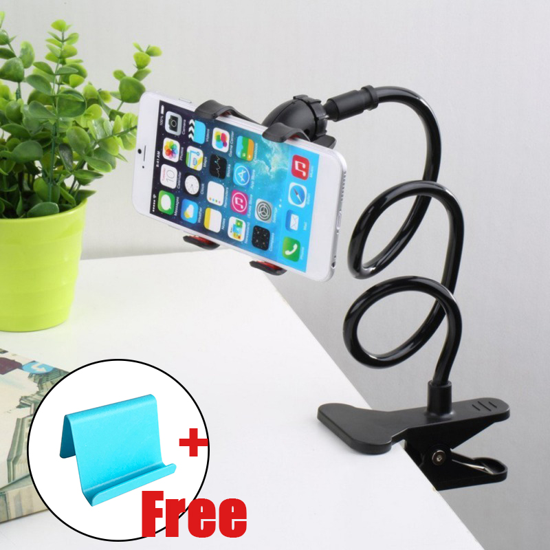 New Universal Flexible Holder Arm Lazy Mobile Phone Gooseneck Stand Holder Stents Flexible Bed Desk Table Clip Bracket For Phone