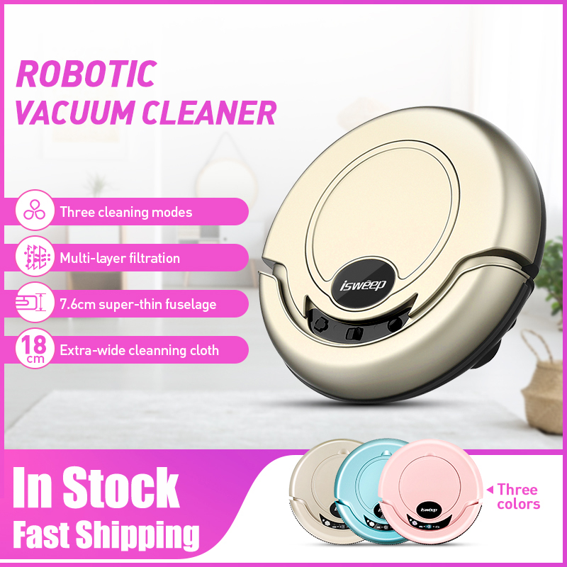 ISWEEP S320 Smart Robot Vacuum Cleaner Mopping Cloth Strong Suction For Home Appliances Mopping Machine with Mopping Cloth