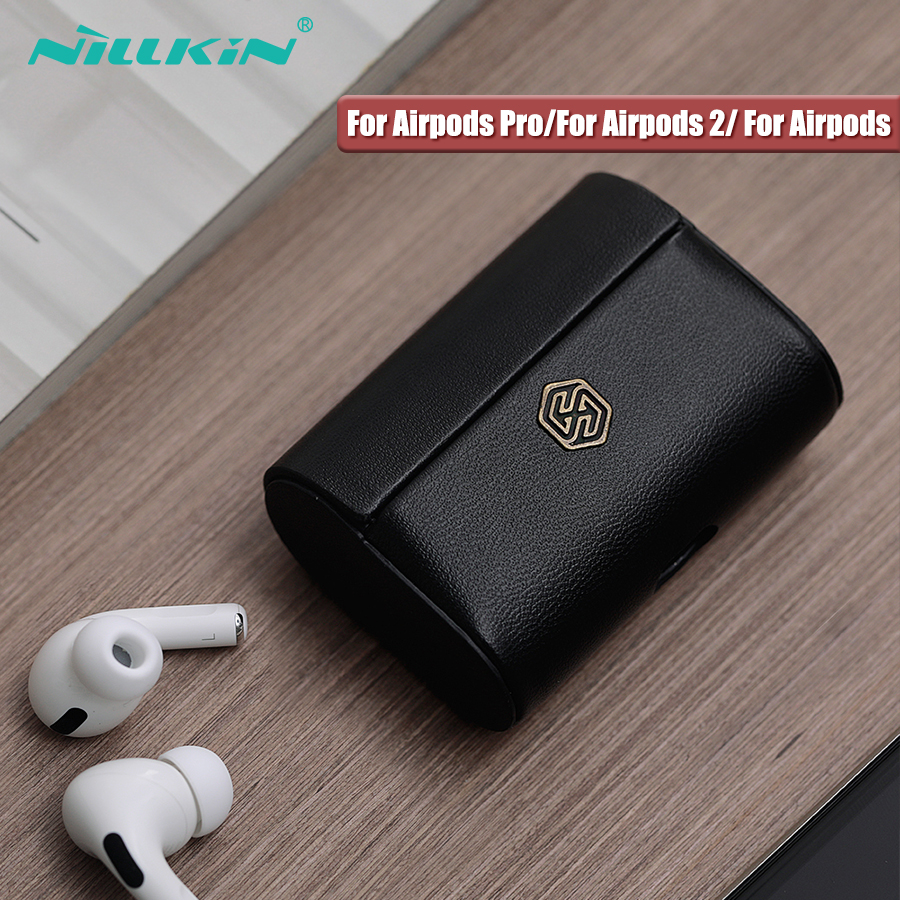 NILLKIN PU Leather Case For AirPods Pro Case For AirPods 2 Wireless Earphone Charging Case Auto Magnetic Cover For Airpods Case