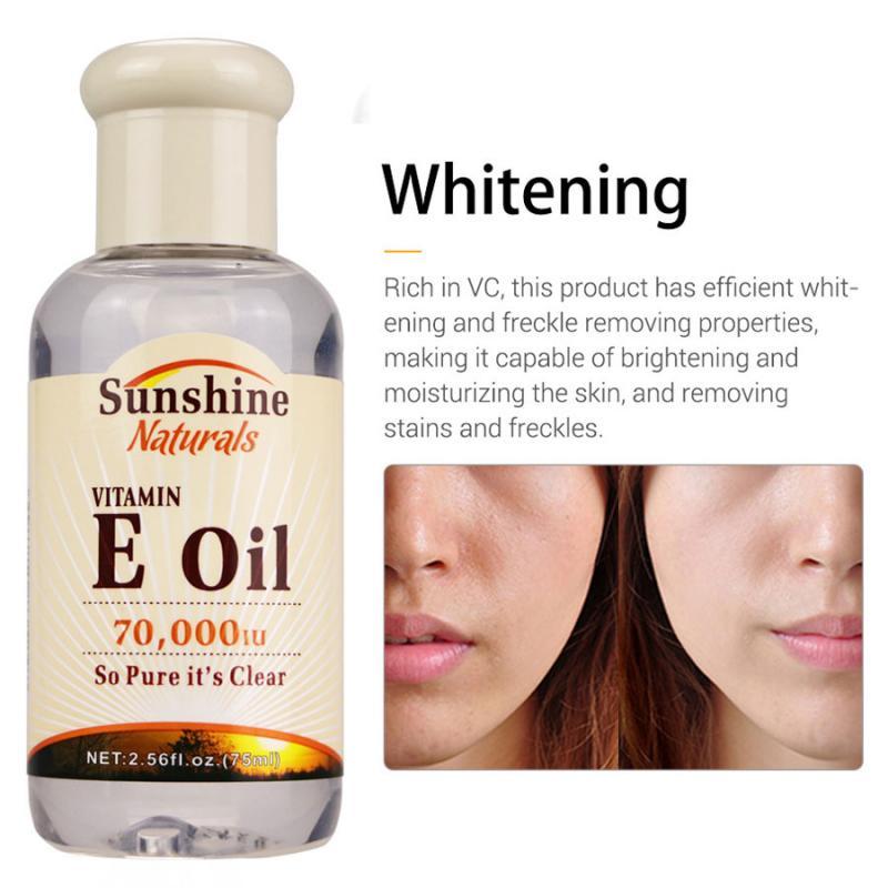2020HOT 75ml Natural Vitamin E Pure Lotus Oil Organic Anti-Aging Whitening Skin Lifting Face Moisturizing Facial Treatment TSLM1