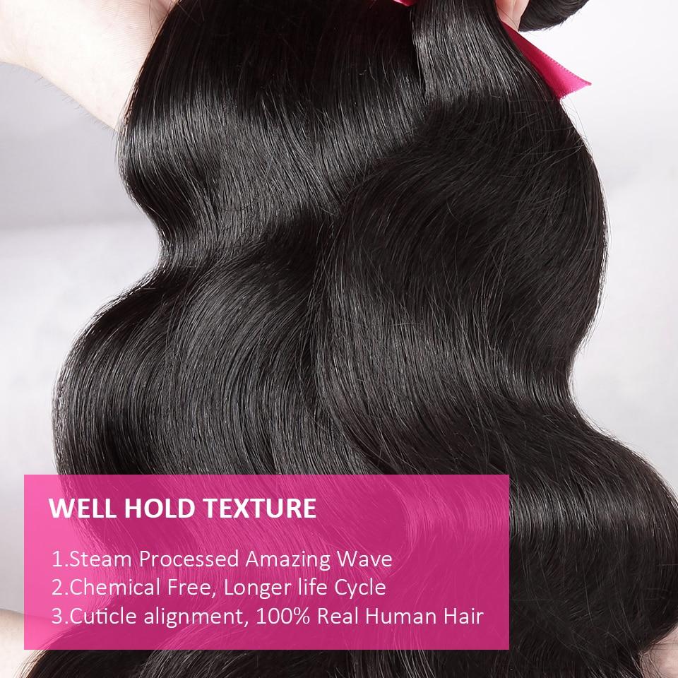 onda do corpo do cabelo 3 pacotes
