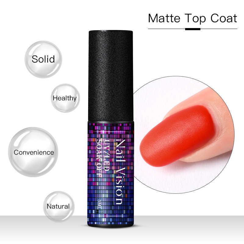 Capa superior mate de la visión de las uñas, esmalte de Gel funcional, esmalte de uñas LED UV, barniz de Gel permanente Semi Vernis mate la capa superior