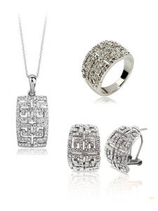 2020 New Design Hot Sale gold-color Austria Crystal Jewelry Set For Women