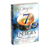 49 unids/set oráculo de la 7 energías cubierta guía de juego de cartas de adivinación bruja Rider Tarot cubierta para las mujeres las niñas Tarot tarjetas regalos