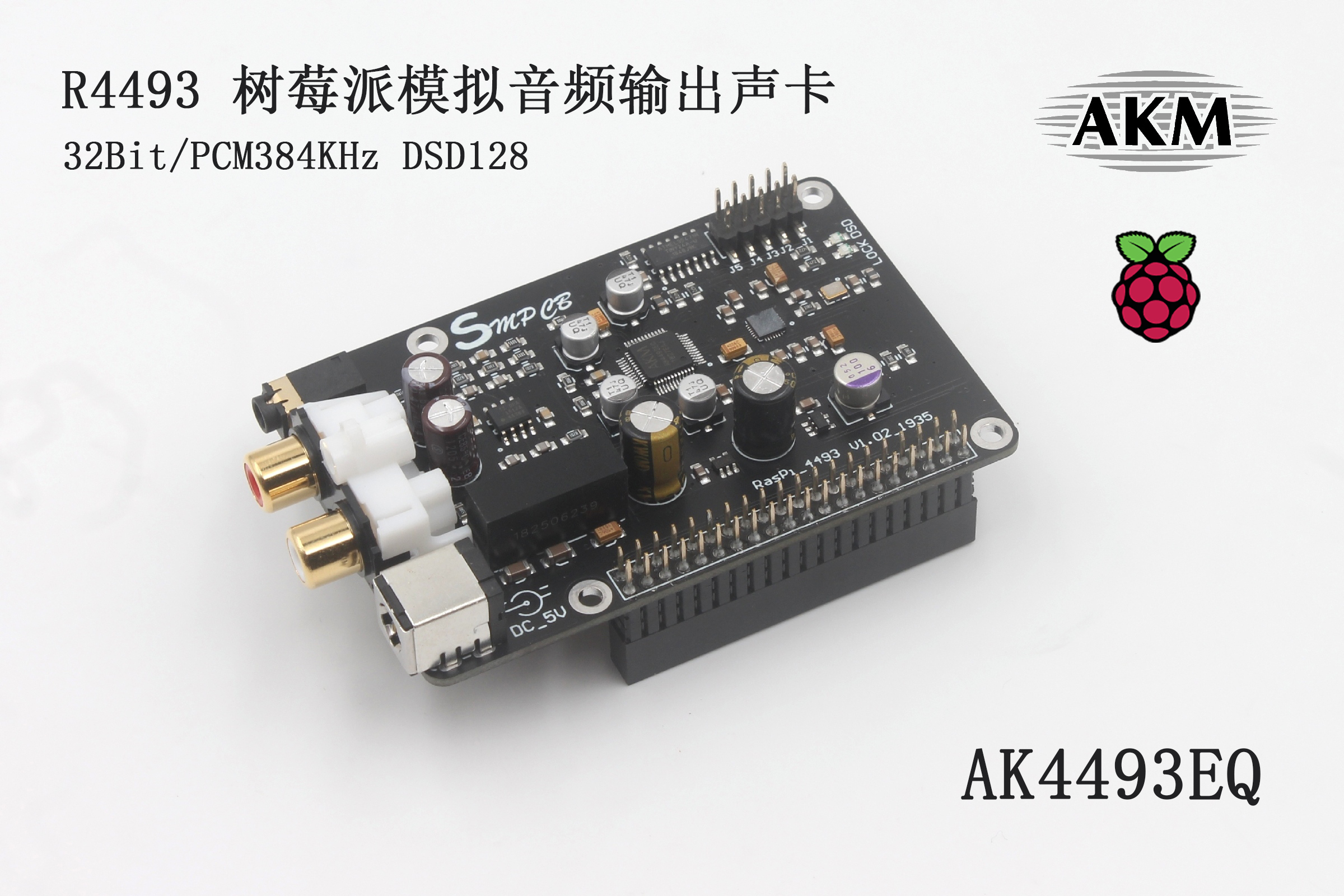 R93 AK4493 Digital Broadcast Network Player Raspberry Pi DAC Connect To I2S 384K DSD 128