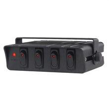 60Amp 12V Truck Car Rocker Switch Panel Marine With Led Indicator light 4 6 Gang SPST Switch Panel Box Boat Yacht