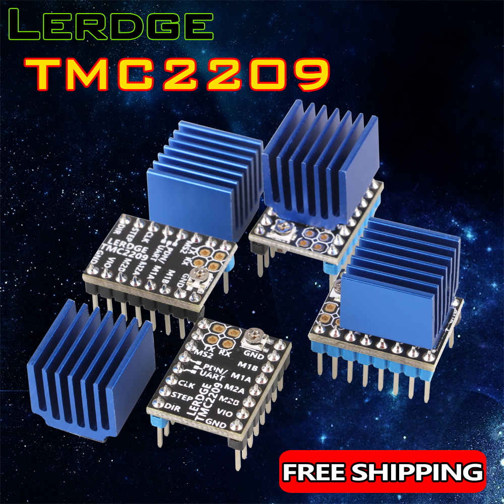 LERDGE 3D Printer Parts TMC 2209 Stepper Motor Driver 256 UART TMC2208 A4988 LV8729 TMC2130 Stepstick 2 0A ultra-silent Ender3