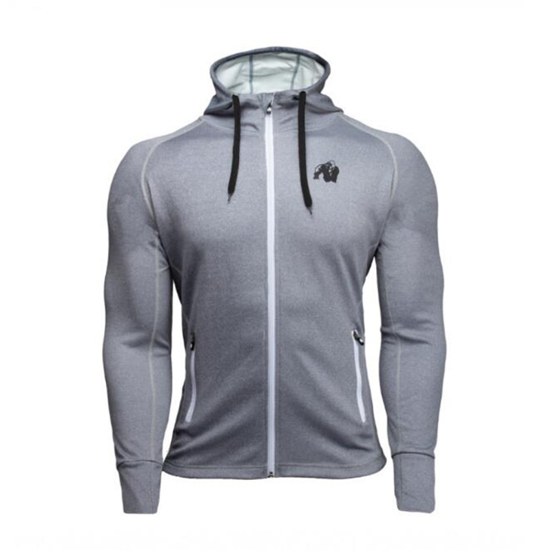 Fall Winter Men's Fashion New Sports Zip Hoodie GORILLA WEAR Fitness Sportswear Outdoor Leisure Jogging Training Slim Jacket