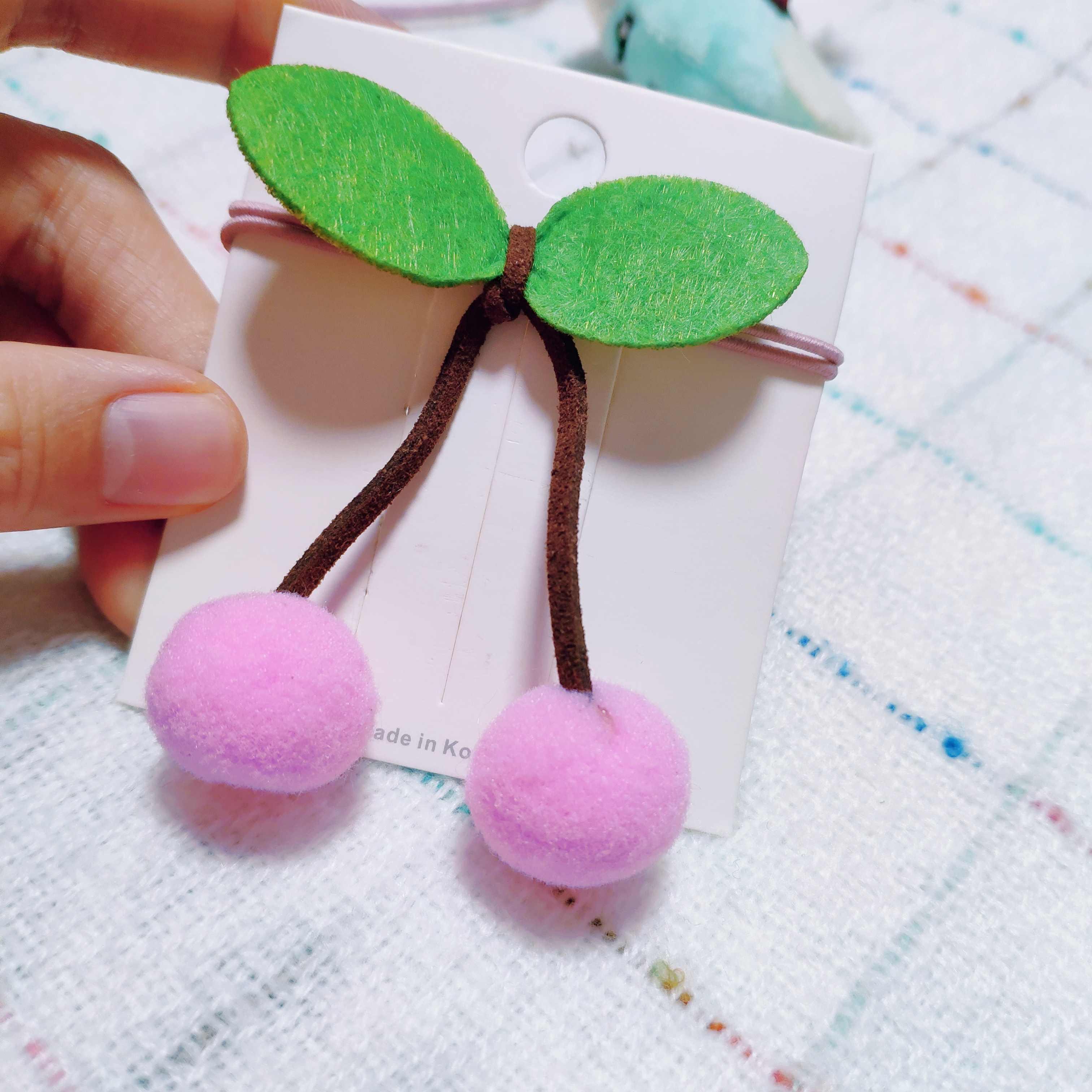Smok japoński koreański cartoon gumka do włosów miękkie kiełkowanie biżuteria pluszowe Zhalong dziecko w klatce piersiowej igły pasma włosów gumka do włosów scrunchie