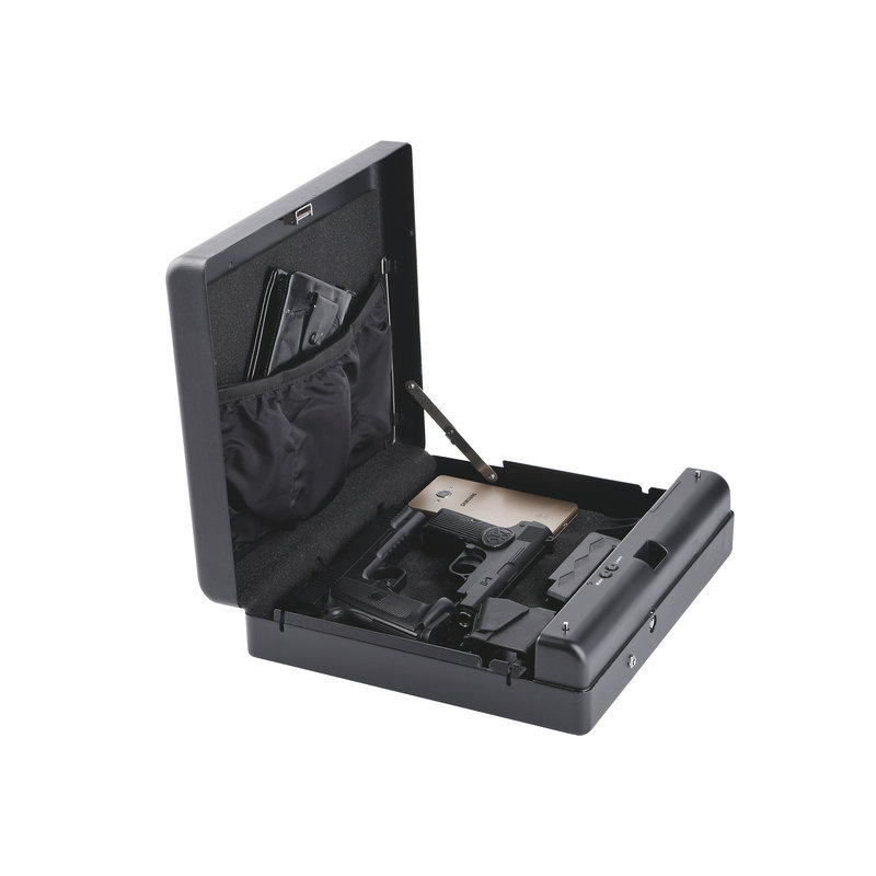 Gunsafe Gunbox Portable Pistol Car Safe Gun Box Ammo Metal Case Safes Code Can Safebox Keybox Strongbox Boxes Safety Security