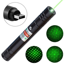 Green Light USB Laser Pointer Rechargeable 5000 High Power Visible Glare Laser Pen 532nm