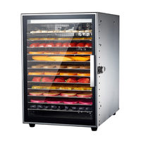 Twelve Layers Fruit Dryer Stainless Steel Commercial Vegetables Dried Meat Pet Snacks Air Dryer Food Dried Fruit Machine Dehydrators    -
