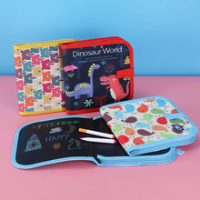 14 Pages Baby DIY Soft Drawing Blackboard Book Children Water Chalk Painting Board With Felt-tip Pens Kids Toys Birthday Gift
