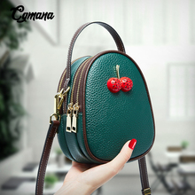 Cherry Small Bag Real Leather Shoulder 2019 Mini 100% Genuine Crossbody Bags Women Messenger bag Summer