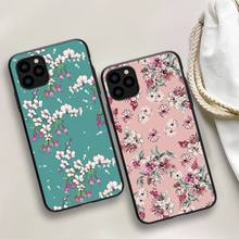 Flower Drawing Phone Case For iphone 5s 6 7 8 11 12 plus xsmax xr pro mini se Cover Fundas Coque