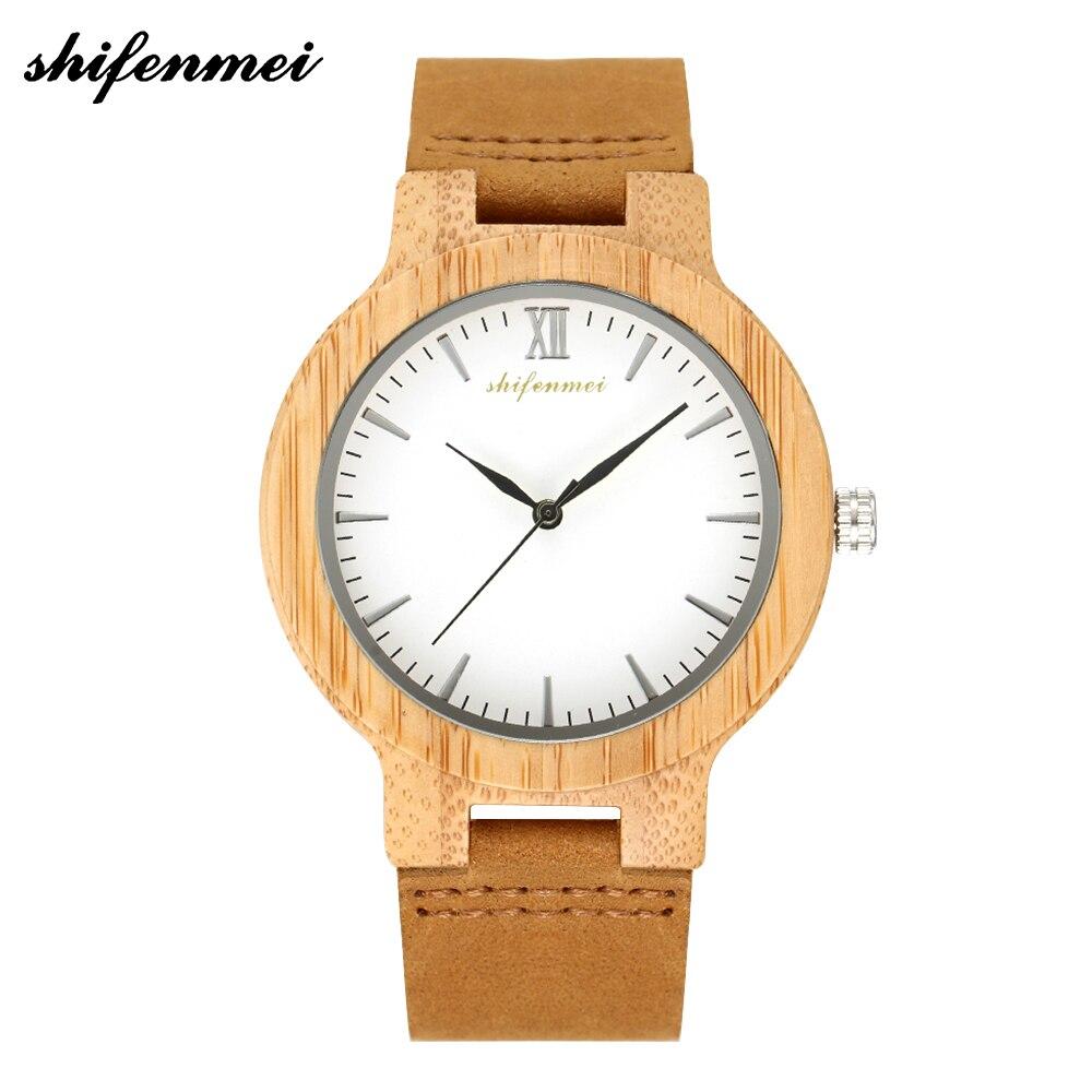 Shifenmei Women Watches 2019 Luxury Brand Quartz Watch Genuine Leather Fashion Ladies Nature Wood Creative Handmade Gifts 5512