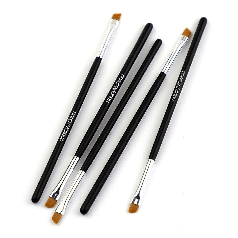 Makeup 5/1Pcs Black Eyebrow Inclined Flat Angled Brush Eyeliner Eyeshadow Eye Brow Makeup Tool Professional Women Cosmetic