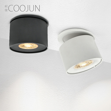 COOJUN embedded anti-glare spotlight adjustable angle downlight stairwell living room light ceiling floodlight GX53 light source