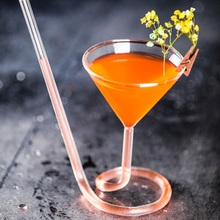 Фирменные креативные спиральные стаканы из стекла, соломенная молекулярная Коктейльная чашка для бара вечеринок вина, сока, молока, чая, вина, виски