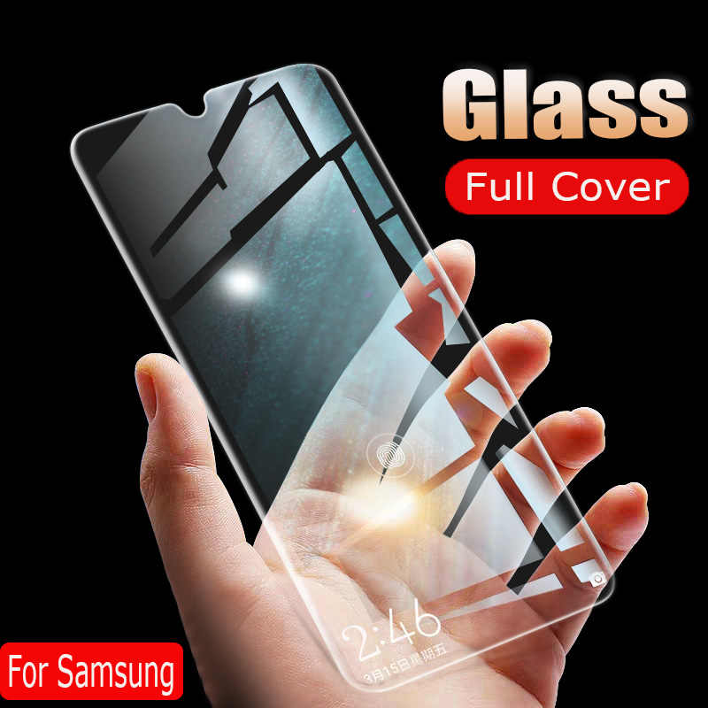 25D Screen Protector Glass Film On The For Samsung Galaxy A50 A10 A20 A30 A40 A70 A80 2018 A90 M20 M30 Tempered Protection Glass