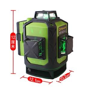 Image 3 - Лазерный уровень Fukuda, зеленый 16 линейный 4d уровень, самовыравнивающийся, 360 горизонтальных и вертикальных пересечений, сверхмощный зеленый лазерный уровень