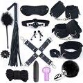 Sex Spielzeug für Frauen Leder Maske Handschellen Fuchs Schwanz Peitsche Spanking Anal Plug Butt Bdsm Vibrator Bondage Erwachsene Spiele