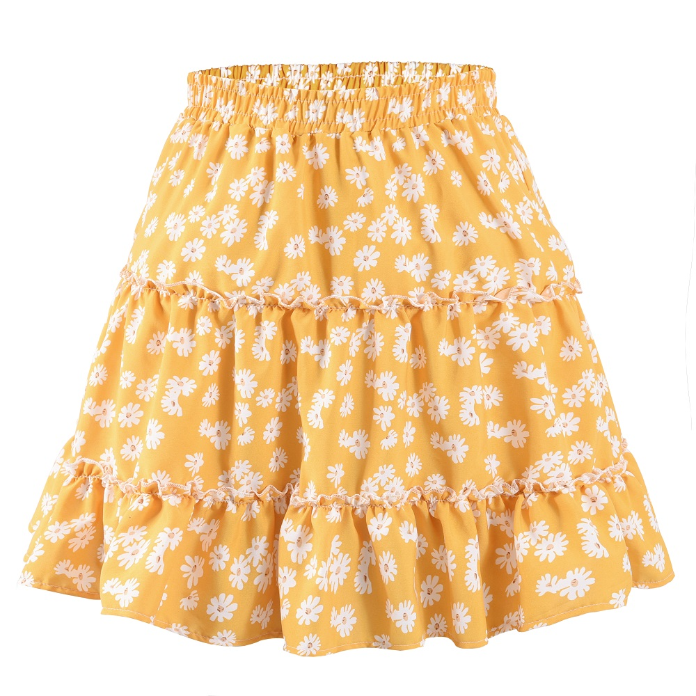 Pink Floral ladies sizes 8-18 avail retro Ladies A Line Skirt daisy