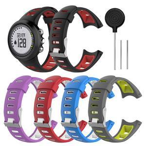 Мужские универсальные двойные цветные часы с силиконовым ремешком ремешок из искусственной кожи браслет для SUUNTO Quest M1 M2 M4 M5 M серии Смарт-час...