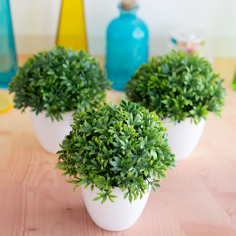 1pc Small Tree Pot Plants Fake Flowers Potted Artificial Plants Bonsai Ornaments For Home Decoration Hotel Garden Decor Bonsai