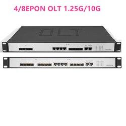 4/8EPON OLT 4/8 PON port OLT GEPON 4 SFP 1.25G/10G SC  WEB management Open software Open software 4pon SFP PX20+ PX20++ PX20+++