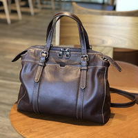 Large Capacity Ladies Cow Leather Bag Portable New Soft Genuine Leather Shoulder Bag Professional Bag Retro Leisure Tote Bag
