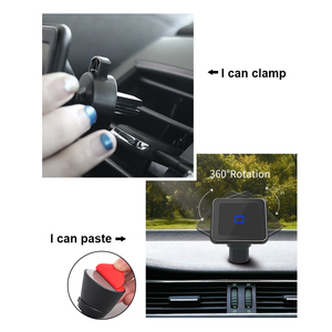 Image 5 - Wireless car charger induction usb mount for iphone 11 samsung s8 s9 car charging phone holder stand qi 10W Fast charging SIKAI