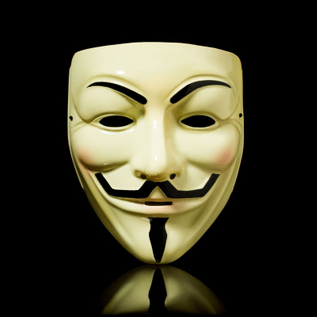 Party cos Masks V for Vendetta adult Mask Anonymous Guy Fawkes  Halloween Masks Adult Accessory Party Cosplay 1
