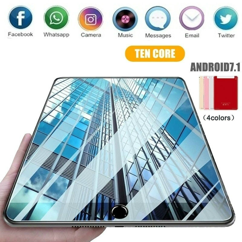 2020 New WiFi Tablet PC 10 Inch Tablet Ten Core 6G+16G/64G/128G Android 8.1 Dual SIM Dual Camera  Kids Tablet