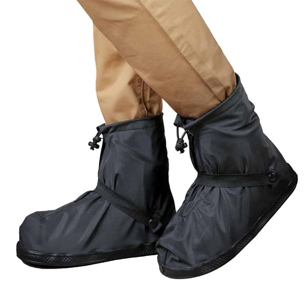 Non-Slip Waterproof Shoe Covers Waterproof Reusable Motorcycle Cycling Bike Boot Rain Shoes Covers Mid-tube Unisex