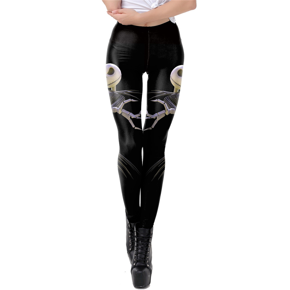 NADANBAO The Nightmare Before Christmas Leggings Halloween Classic Pants Women Workout Leggins Fashion Sexy Elastic Legins 15