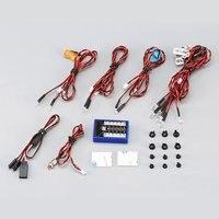 12 Ultra LED Blinkende Helle Licht Strobe Lampen Kit System für 1/10 1/8 RC Drift HSP TAMIYA CC01 4WD Axial SCX10 RC Auto Lkw