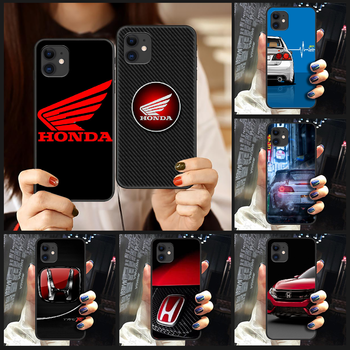 JDM Honda logo car cool Phone Case Cover Hull For iphone 5 5s se 2 6 6s 7 8 12 mini plus X XS XR 11 PRO MAX black cell cover image