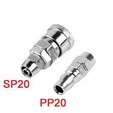 цена на SP20 PP20 1/4''PT Pneumatic Air Compressor Hose Quick Coupler Plug Socket Connector